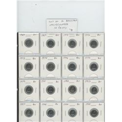 Lot of 16 different Brilliant Uncirculated 10 cents 1968 – 1995: 1968, 1969, 1971, 1972, 1973, 1974,