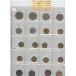 Lot of 20 different British coins including 2 half crowns, 2 2-shillings, 2 shillings, 10 3 pence an