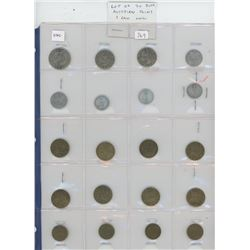 Lot of 20 different Austrian coins including 1 Unc.
