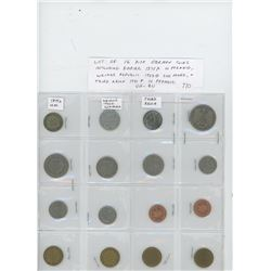 Lot of 16 different German coins including German Empire 1875A 10 pfennig, Weimar Republic 1923G 200