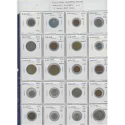 Lot of 20 different Scandinavian coins from Denmark, Finland, Norway and Sweden. 5 coins are Unc.