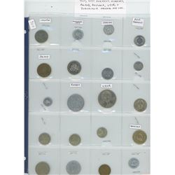 Lot of 20 different Eastern European coins including Croatia, Czechoslovakia, East Germany, Hungary,