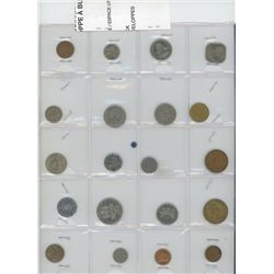 Lot of 20 different Caribbean coins form Bahamas, Barbados, Bermuda, British Caribbean Territories,