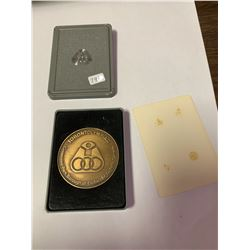1976 Olympiad For the Physically Disable medal. (Precursor to the Para-Olympics). Huge 53mm brass me