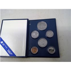 1987 6-coin Specimen set in case of issue. Includes the last nickel dollar.