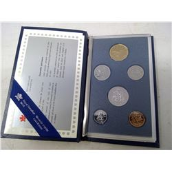 1991 6-coin Specimen set in case of issue. Includes scarce 1991 25 cents.