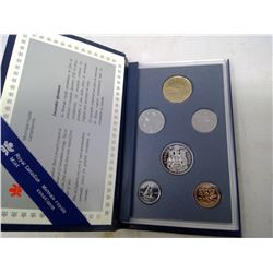 1992 6-coin Specimen set in case of issue. Includes scarce 1992 Caribou 25 cents.