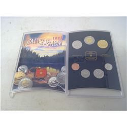 1998W 7-coin Oh! Canada set in case of issue. All coins from the Winnipeg Mint.