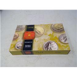 1998 7-coin Specimen set in case of issue.