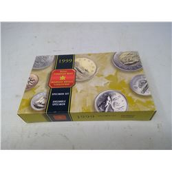 1999 7-coin Specimen set in case of issue.