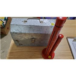 GALVANIZED LUNCH BOX, COIN SORTER