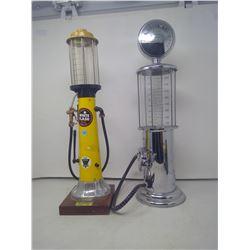 2 DECANTERS (VINTAGE GAS PUMP STYLE)