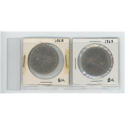 1968, 1969 Canadian Dollars