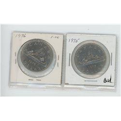 1975, 1976 Canadian Dollars