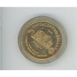 1990 HAWEATER TWO DOLLAR coin