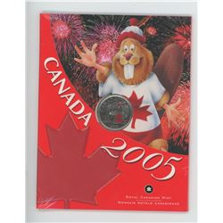2005 Canada 25 cent coin
