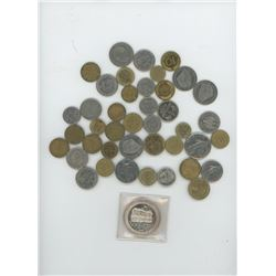 Charlottetown, PEI Token and various foreign coins