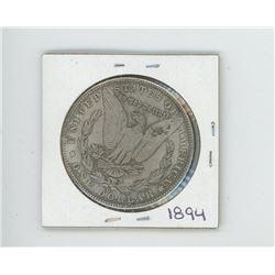 1894 US Morgan Dollar (Cannot determine authenticity. Bid accordingly.)