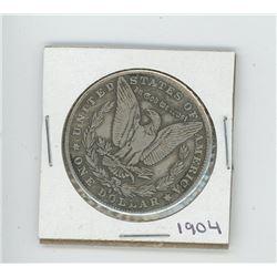 1904 US Morgan Dollar (Cannot determine authenticity. Bid accordingly.)