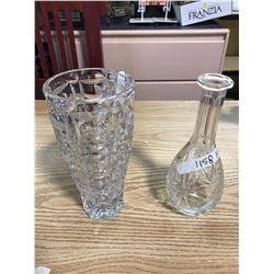 DECANTOR + VASE (CRYSTAL GLASS)