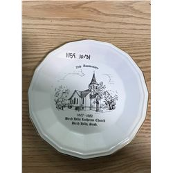 "75TH ANNIVERSARY 1907 - 1982 ""BIRCH HILLS LUTHERAN CHURCH"" PLATE"