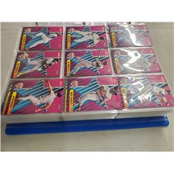 LAREGE BINDER OF BASEBALL CARDS (SCORE 90'S, MVP 90'S UPPER DECK 90'S)