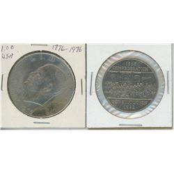 1982 CANADA DOLLAR + 1976 EISENHOWER DOLLAR