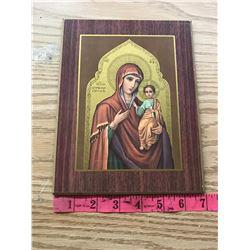 SMALL VIRGIN MARY & JESUS ICON PRINT (NO HOOK ON BACK)