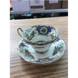 """""""BROADWAY"""" PATTERN (BIRD, FLOWERS): 1- TEACUP & SAUCER, 18EB50, FOLEY BONE CHINA, MADE IN ENGLAND"""