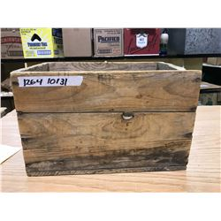 "WOODEN BOX 14"" X 9 1/2"" FOR SHOT GUN SHELLS, CANADIAN INDUSTRIES LTD, MONTREAL CANADA"