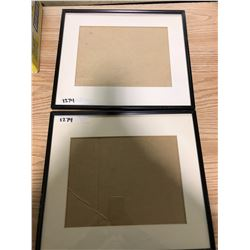 "14"" X 16"" (2) BLACK FRAMES, MATTED"