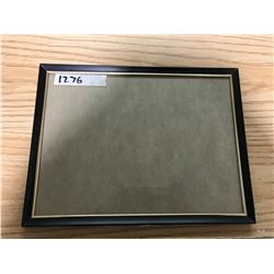 "NEVER USED, BLACK FRAME, 9 1/8"" X 12 1/8"""