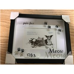 "PICTURE FRAME, 9 & 7/8"" X 13"" TO FIT 4"" X 6"" PICTURE OF CATS"