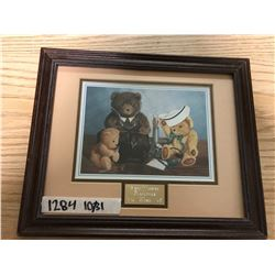 BROWN FRAMED, WITH MATTING, TOY ANIMAL PHOTO. PEDIATRICS (CHILDRENS UNIT), VICTORIA HOSPITAL, 1995 P
