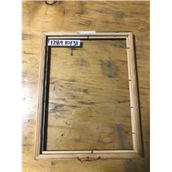 "GOLD WOODEN PICTURE FRAME 10"" X 13"", NO BACK"