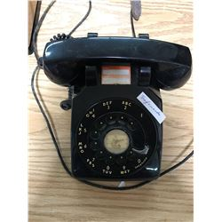 BLACK ROTARY DESK TELEPHONE