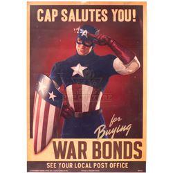 Captain America: The First Avenger – Prop War Bonds Poster – A245