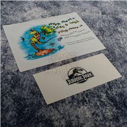 Jurassic Park - Wrap Party Invite & Cast & Crew Screening Ticket – A348