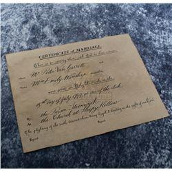 Sleepy Hollow – Prop Marriage Certificate – A372