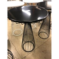 BLACK WIRE FRAME BAR HEIGHT ROUND TABLE