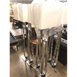 BRUSHED METAL MODERN DESIGN FLOOR LAMP