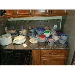 Plastic ware and Pyrex