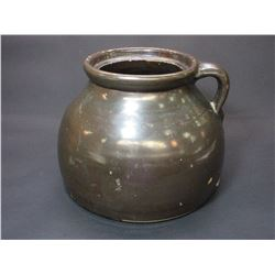 """Large Unmarked Bean Pot- Minor Chips- 8.5""""H X 10.5""""W"""