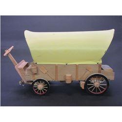 "Covered Wagon Lamp- 18.5""L X 7""W X 12""H"