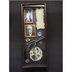 "Wyatt Earp Shadow Box- 25""L X 10""W X 3.75""H"