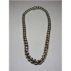 Marked 925 Italy Hammered Sterling Necklace