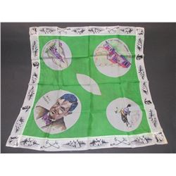 """Antique Will Rogers Silk Scarf- 25"""" X 25"""""""