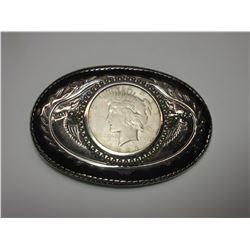 1923 Peace Dollar Belt Buckle
