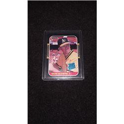 1989 Donruss Mark McGwire Rookie Card