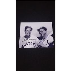Stan Musial Ted Williams Autograph 8x10 Photo W/COA
